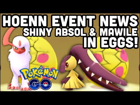 SHINY ABSOL & MAWILE IN 7KM EGGS POKEMON GO   ALL NEW RAIDS   SHINY GROUDON IS HERE thumbnail