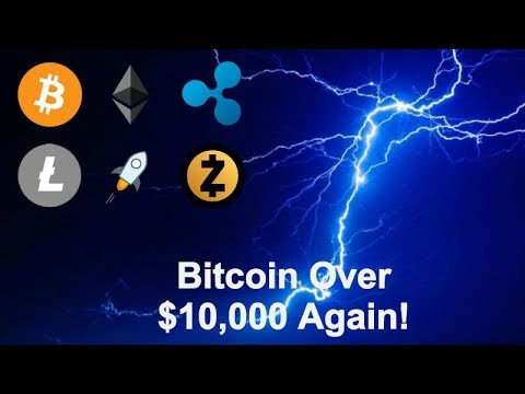 Bitcoin over $10,000 Again as Market Recovers - More Cryptos Testing Lightning Network - LTC XRP XLM