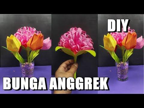Bunga Dahlia Dari kertas ORIGAMI DIY Cara membuat Kerajinan Tangan Ide kreatif Kerajinan Tangan