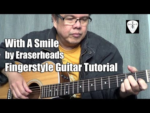 With A Smile  (Eraserheads) Fingerstyle Guitar Tutorial in Tagalog