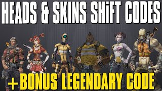 Borderlands 2 Pre-Sequel Heads & Skins + Legendary Weapons SHiFT Codes!