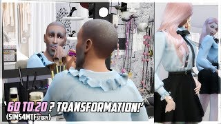 OLD Man transforming into Pretty Girl! Transformation Story - Sims4