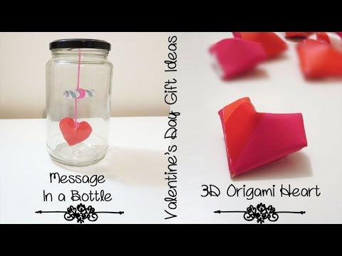 More Creative Gift Ideas For Boyfriend Or Girlfriend 3d Heart Message In A Bottle Sunny Diy Youtube
