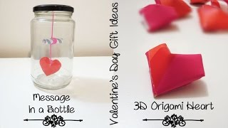 [sunny Diy] More Creative Gift Ideas For Boyfriend Or Girlfriend | 3d Heart & Message In A Bottle