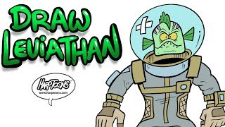 How to Draw Leviathan From Fortnite [Harptoons]
