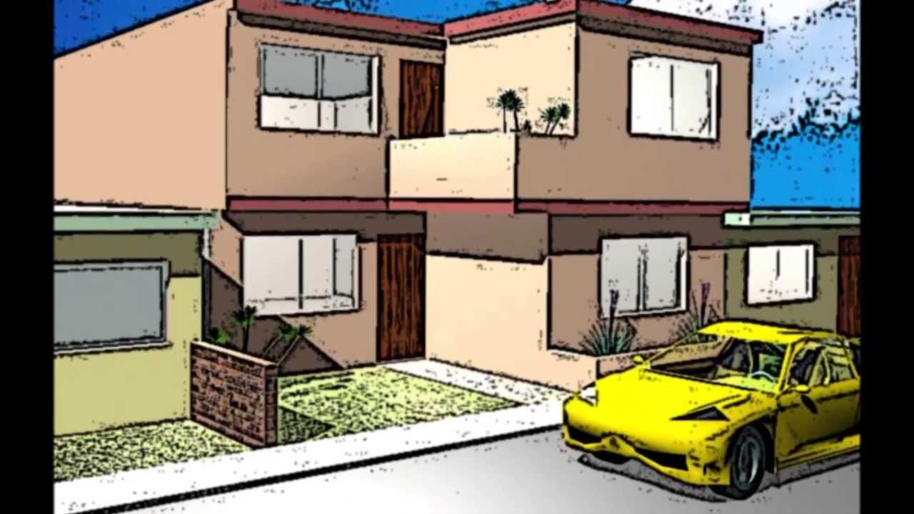 Dise os en perspectiva 3d de viviendas youtube - Disenos de viviendas ...