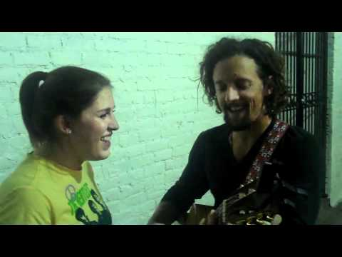 """Jason Mraz & Alexa Jarred. """"Lucky."""" Live in the Alley Behind Hotel Cafe."""