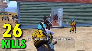 BEST WAY TO RUSH!!! | 26 KILLS SOLO VS SQUAD PUBG MOBILE