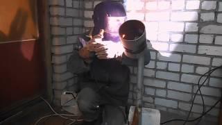 Как варить облицовочный шов под просвет(В этой части сварки под просвет полностью варим облицовочный шов под просвет., 2015-03-10T05:16:29.000Z)