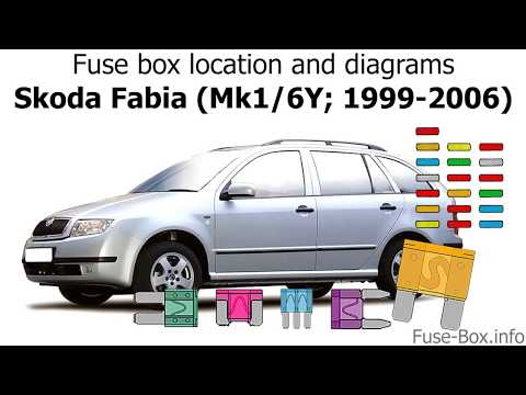 skoda felicia 1999 fuse box diagram fuse box location and diagrams skoda fabia  mk1 6y  1999 2006  skoda fabia  mk1 6y  1999