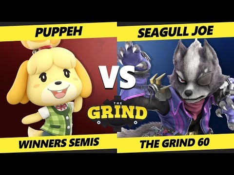 Smash Ultimate Tournament - Puppeh (Isabelle) Vs. Seagull Joe (Wolf) SSBU The Grind 60 Winners T 32