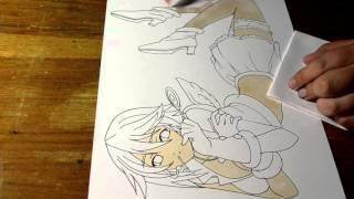 Drawing Mizore Shirayuki from  Rosario + Vampire