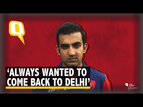 Gautam Gambhir Is Back 'Home' at Delhi Daredevils | The Quint