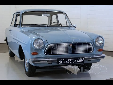 Ford Taunus 12M P4 fully revised in Topcondition, babyblue -VIDEO- www.ERclassics.com