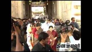 chief minister jayalalitha visit to trichy srirangam temple - DINAMALAR