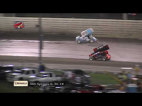 Knoxville Raceway 360 Highlights - June 30, 2018