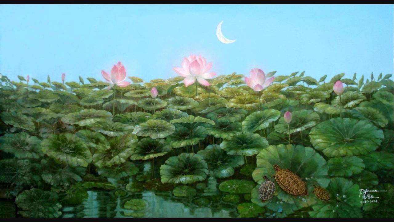 Pretty lotus flowers on the lake beautiful painting by hewen tang pretty lotus flowers on the lake beautiful painting by hewen tang izmirmasajfo Gallery