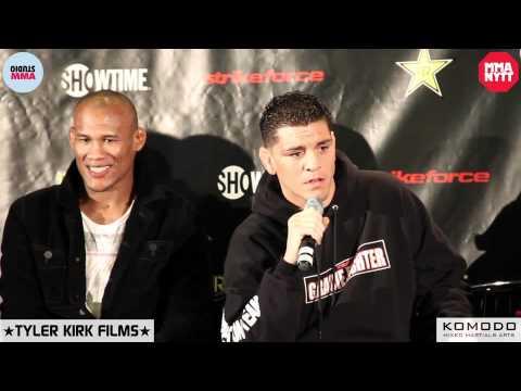 Nick Diaz and Herschel Walker talk about some stuff