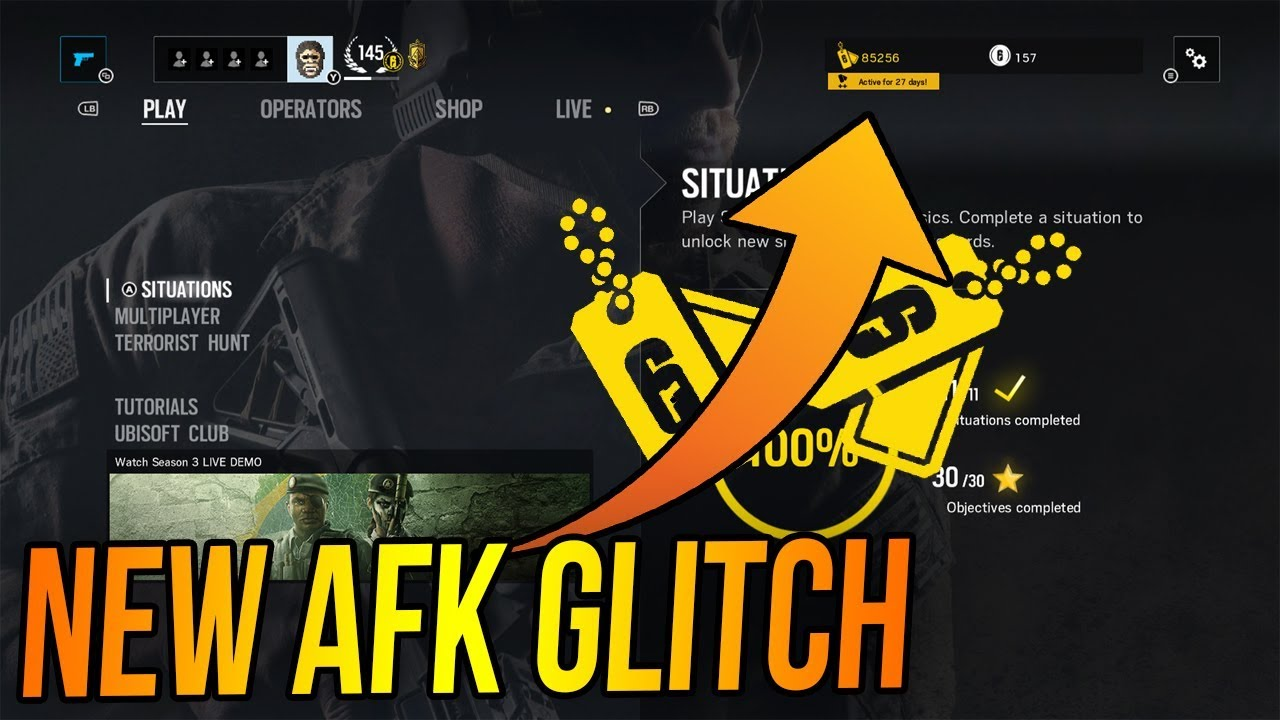 NEW UNLIMITED RENOWN GLITCH AFK in Rainbow Six Siege