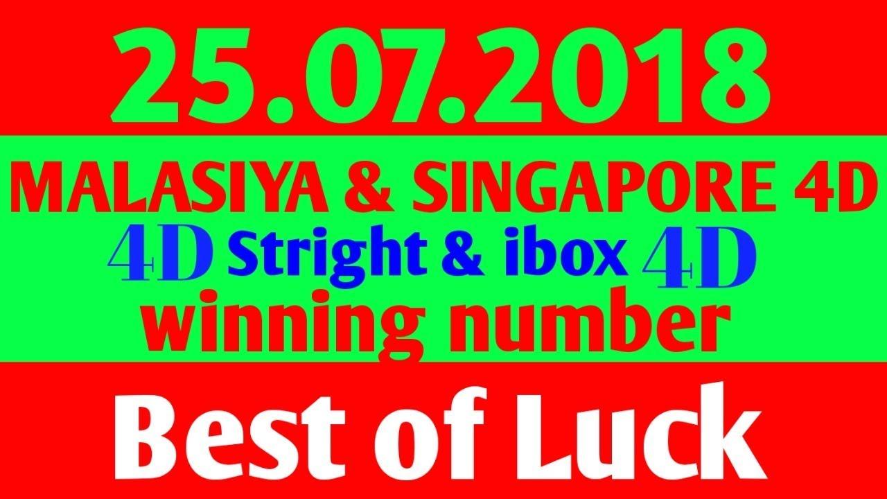 25 07 2018 Malasiya 4d & Singapore 4D winnning number  /Toto4d/magnum4d/singapore4d/damacai4d/
