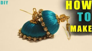 How to make silk thread earrings at home | thread hacks | Latest  silk thread earrings works