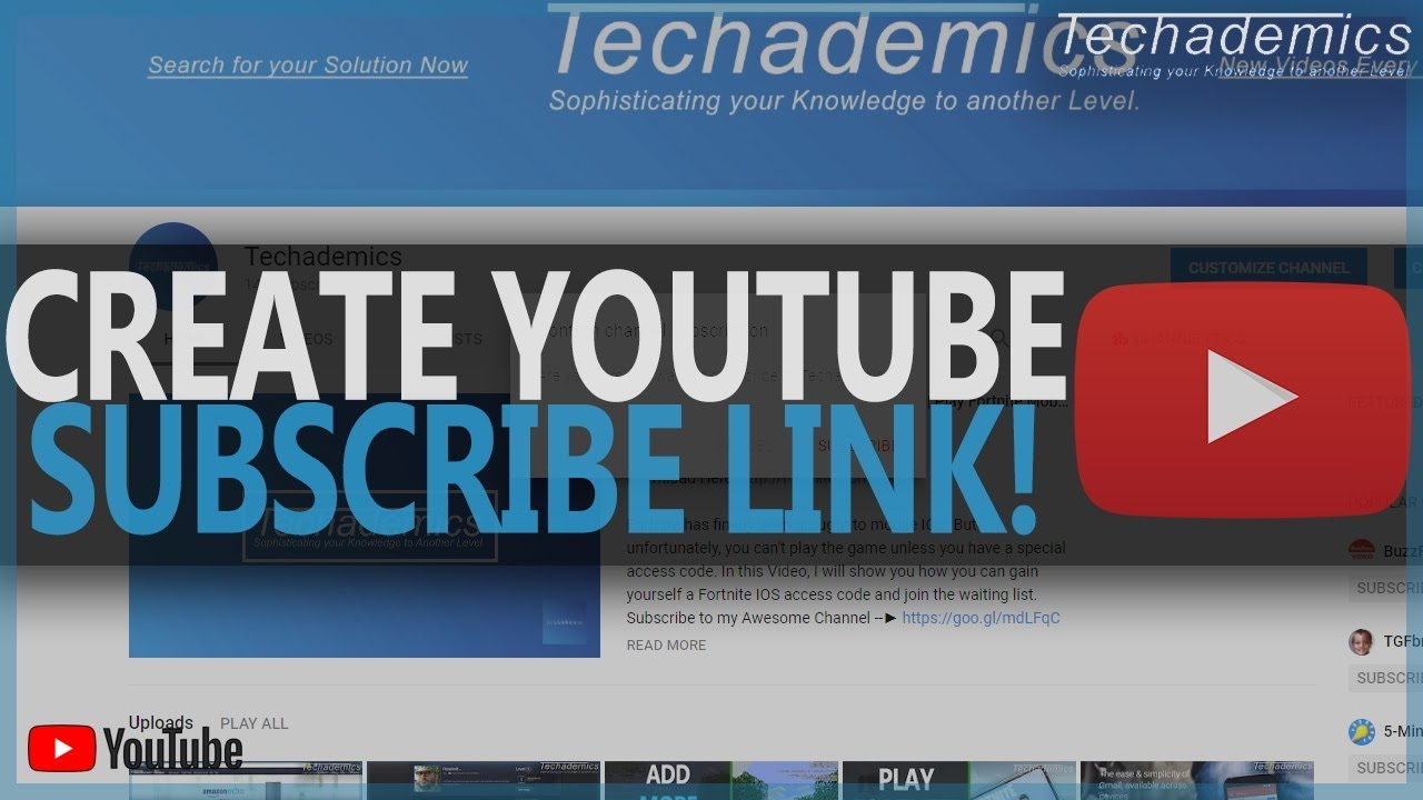 How To Make A YouTube Subscribe Link 2019