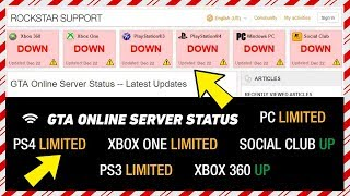GTA Online Servers Go OFFLINE - Which Systems Are Out, When They Will Be Back Up & MORE! (GTA 5)