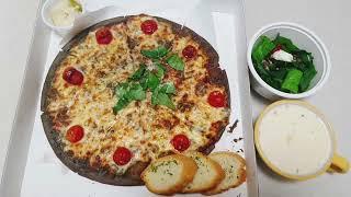 [식기록] 단호박 스프 & 마르게리따 피자 Sw…