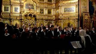 Богородица. В хоре поют студенты НАУ ЭРА Юрий и Дмитрий Хорошиловы и  Марина Туткевич-Хорошилова.