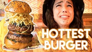 MAKING MY GIRLFRIEND EAT THE HOTTEST BURGER IN THE WORLD