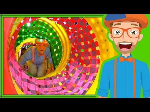 Blippi playing at a playground | Learn Colors and more!