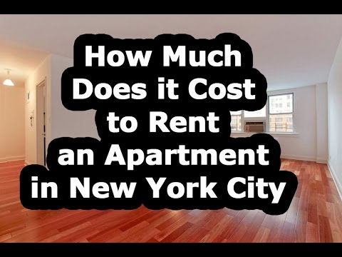 how much does it cost to rent an apartment in nyc youtube