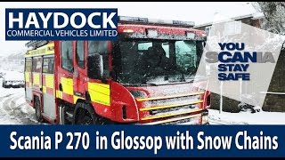 Scania Fire Truck With Snow Chains In Glossop P- Series
