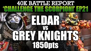 Grey Knights vs Eldar Warhammer 40K Battle Report CTS21: GAME OF THRONES! 1850pts | HD
