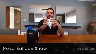 Nova Lâmpada Balloon Snow