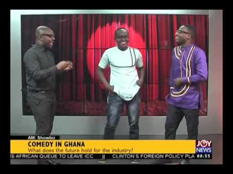 Comedy in Ghana - AM Art and Entertainment on Joy News (27-1016)