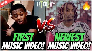 RAPPERS FIRST MUSIC VIDEO vs NEWEST MUSIC VIDEO!