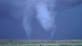 Weird Double Tornado - Eva Oklahoma April 15, 2016