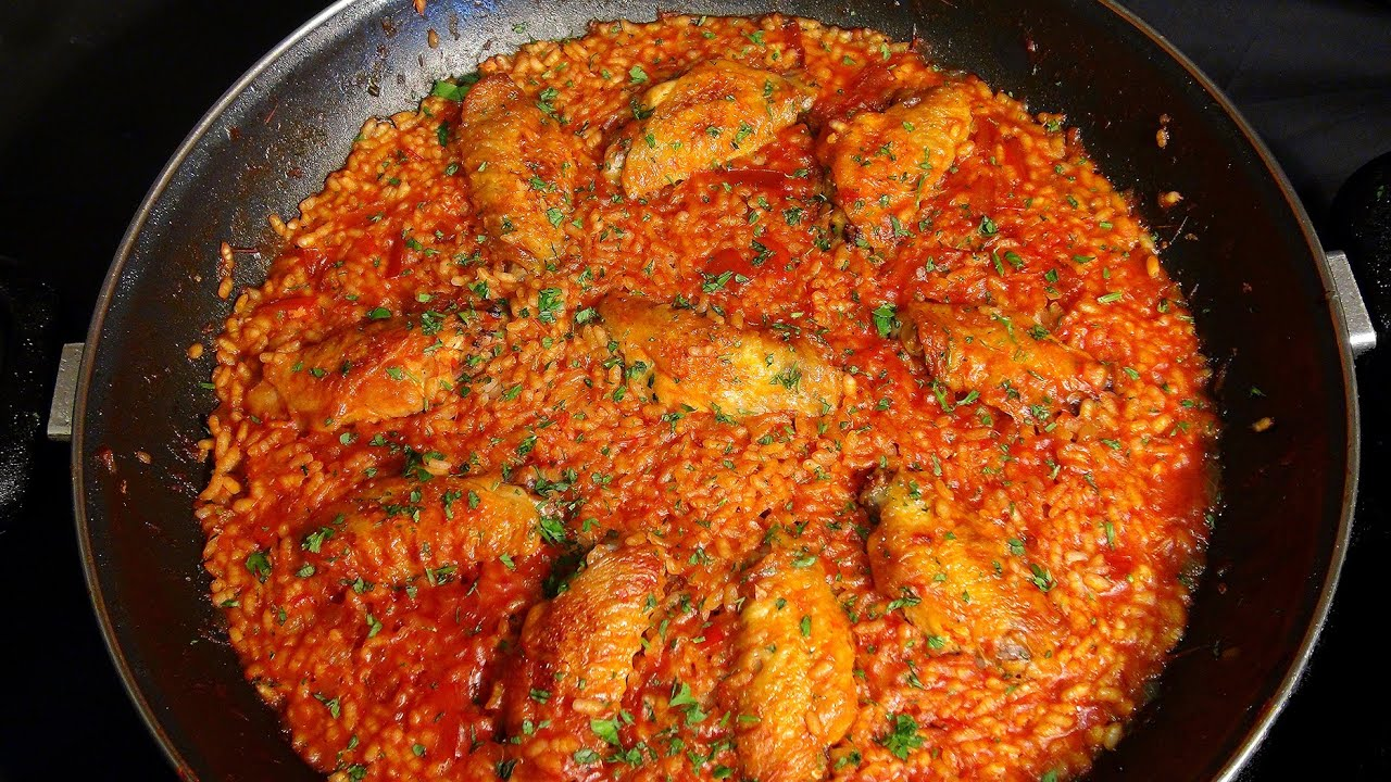 Arroz con alitas de pollo recetas de arroz youtube - Arroz con verduras y costillas ...