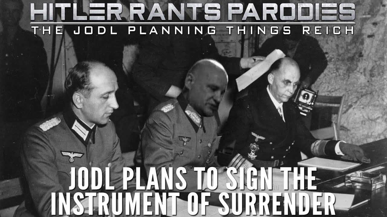 Jodl plans to sign the instrument of surrender