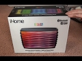 IHOME IBT90B color changing bluetooth speaker review