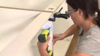 Base cabinets installation kaboodle kitchen