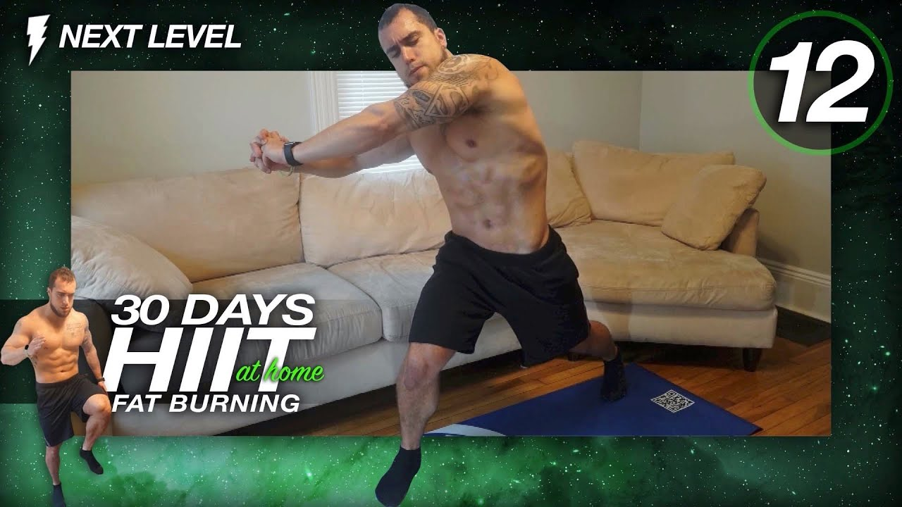 Day 12 of 30 Days of Fat Burning HIIT Cardio Workouts At Home