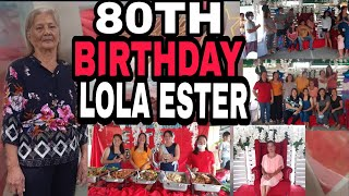 80TH BIRHDAY CELEBRATION OF LOLA ESTER/IVY MIRANDA VLOG