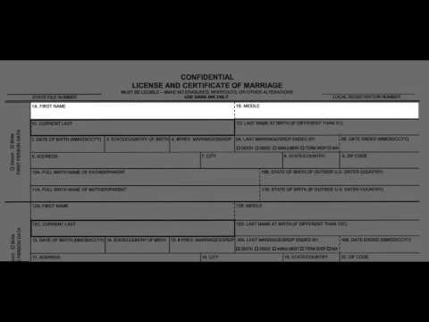 California Confidential Marriage License Name Accuracy