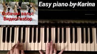 СОБАЧИЙ ВАЛЬС как играть на пианино шаг за шагом видеоразбор