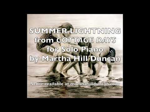 Summer Lightning from Cottage Days for Piano by Martha Hill Duncan