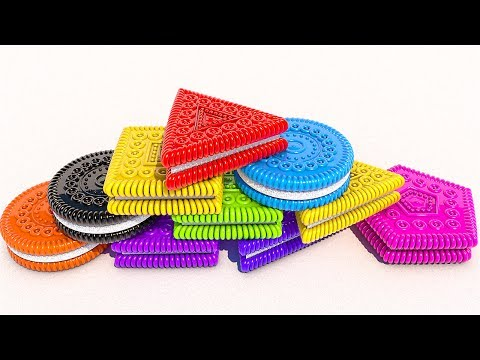Thumbnail: Teach Shapes and Colors with 3D Cookies for Kids and Children