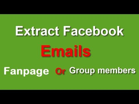 Scrape Real Emails Of Facebook Fanpages and Group Members ! 100% guarantee