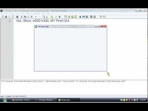 AutoHotkey #8: Making GUIs (example with notepad) - YouTube